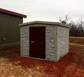 above ground safe room concrete tuttle oklahoma