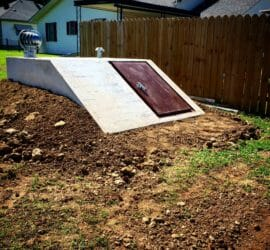 easy access storm shelter