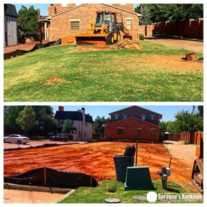 backhoe services new construction house pad