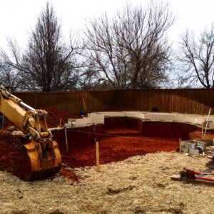 swimming pool excavation backhoe services