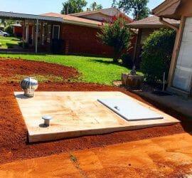 6x8 Flat Top Shelter Front Yard Moore Oklahoma No Backyard Access