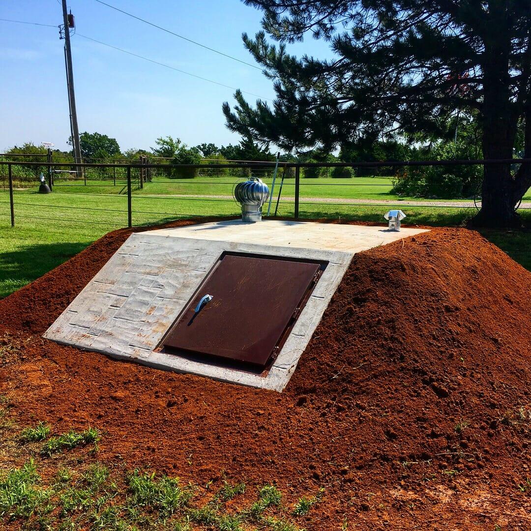 slant top slope front storm shelter tornado shelter cellar oklahoma