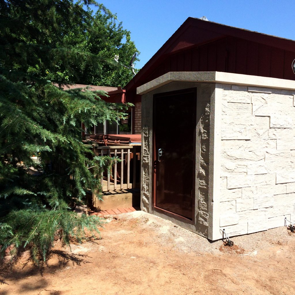 stamped concrete above ground safe room storm shelter tuttle oklahoma safe rooms