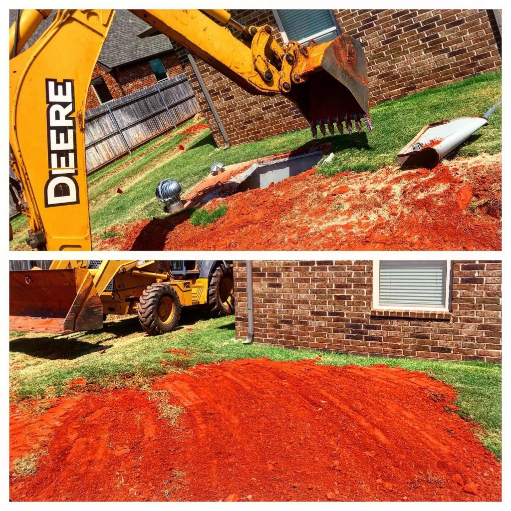 storm shelter demolition and removal in Oklahoma